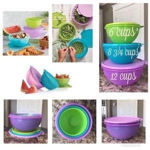 Wonderlier bowls set by Tupperware